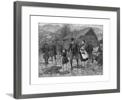 Scene at an Irish Eviction in County Kerry, 1887-P Naumann-Framed Art Print