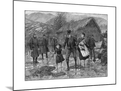 Scene at an Irish Eviction in County Kerry, 1887-P Naumann-Mounted Giclee Print