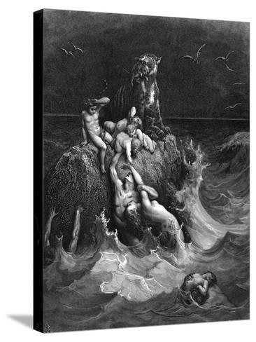 The Deluge, 1866-Gustave Dor?-Stretched Canvas Print
