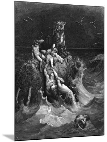 The Deluge, 1866-Gustave Dor?-Mounted Giclee Print