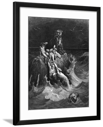 The Deluge, 1866-Gustave Dor?-Framed Art Print