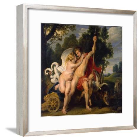 Venus and Adonis, C1614-Peter Paul Rubens-Framed Art Print