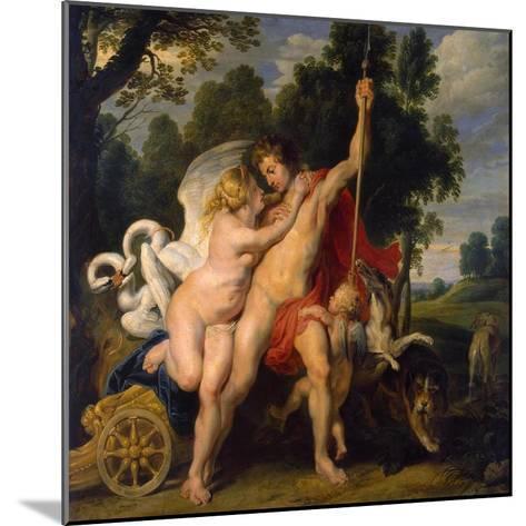 Venus and Adonis, C1614-Peter Paul Rubens-Mounted Giclee Print