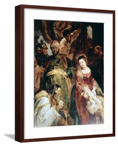 Adoration of the Magi (Detail), 1624-Peter Paul Rubens-Framed Art Print