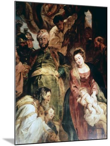 Adoration of the Magi (Detail), 1624-Peter Paul Rubens-Mounted Giclee Print