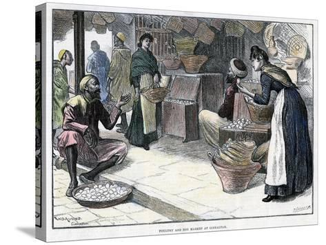 Poultry and Egg Market in Gibraltar, C1880-P Naumann-Stretched Canvas Print
