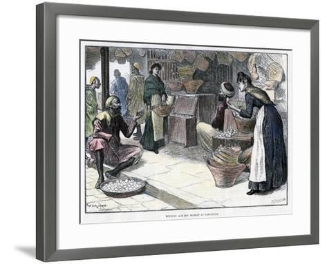 Poultry and Egg Market in Gibraltar, C1880-P Naumann-Framed Art Print