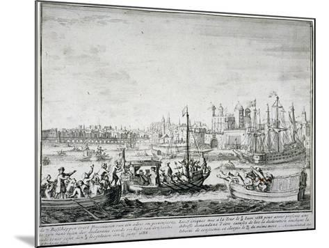 Tower of London, C1688-P Pickaert-Mounted Giclee Print