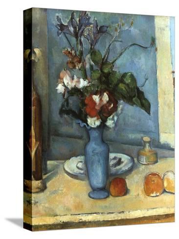 Le Vase Bleu, 1889-1890-Paul C?zanne-Stretched Canvas Print