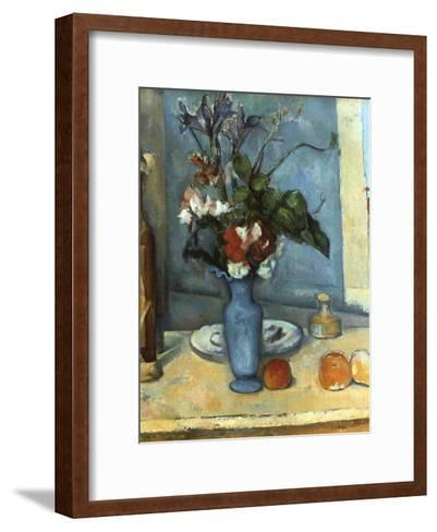 Le Vase Bleu, 1889-1890-Paul C?zanne-Framed Art Print
