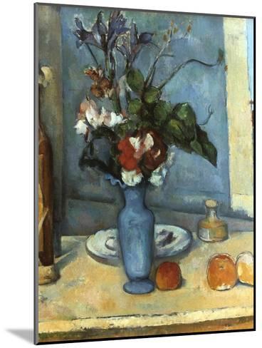 Le Vase Bleu, 1889-1890-Paul C?zanne-Mounted Giclee Print