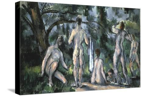 Study of Bathers, 1890-Paul C?zanne-Stretched Canvas Print