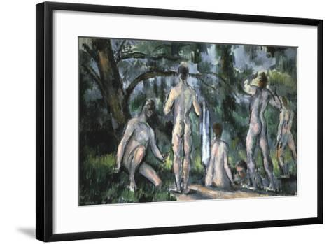 Study of Bathers, 1890-Paul C?zanne-Framed Art Print