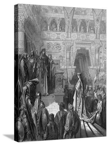 King Solomon Welcoming the Queen of Sheba, 1865-1866-Gustave Dor?-Stretched Canvas Print
