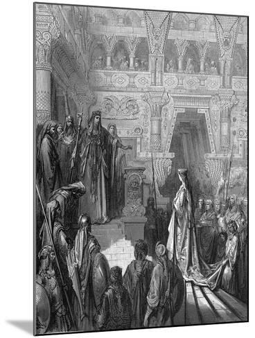 King Solomon Welcoming the Queen of Sheba, 1865-1866-Gustave Dor?-Mounted Giclee Print