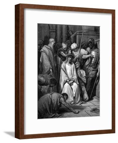 Christ Mocked and the Crown of Thorns Placed on His Head-Gustave Dor?-Framed Art Print
