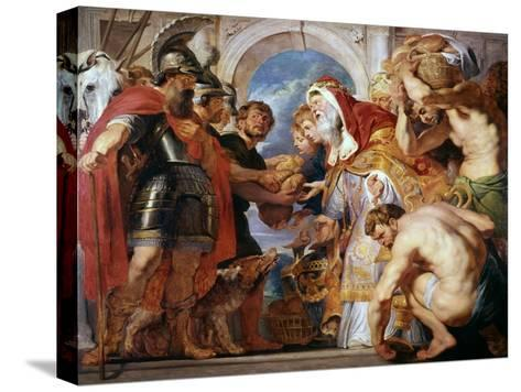 Abraham and Melchisedech, 1615-1618-Peter Paul Rubens-Stretched Canvas Print