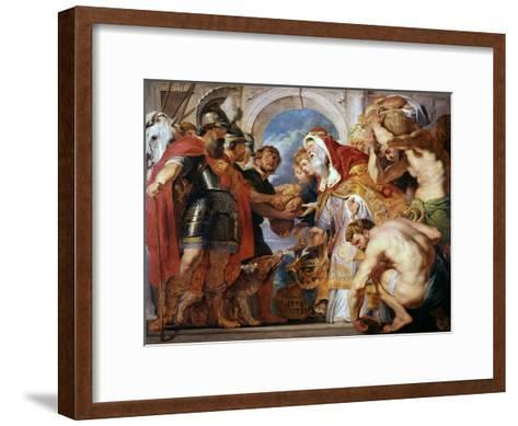 Abraham and Melchisedech, 1615-1618-Peter Paul Rubens-Framed Art Print
