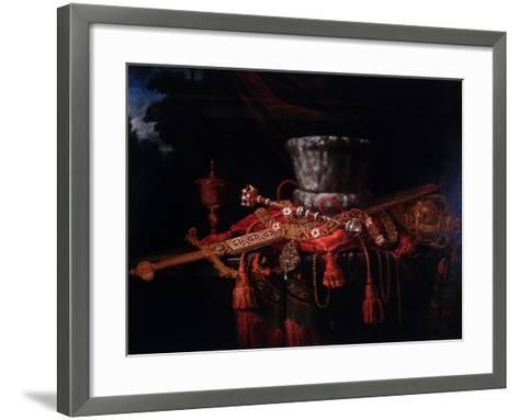 The Insignia of the City of London, C1650-C1700-Pieter Gerritsz van Roestraeten-Framed Art Print