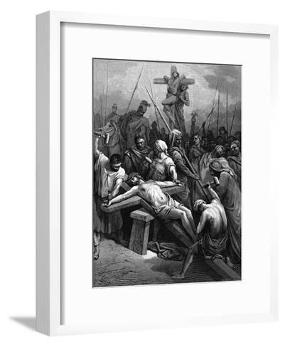 Crucifixion, 1866-Gustave Dor?-Framed Art Print