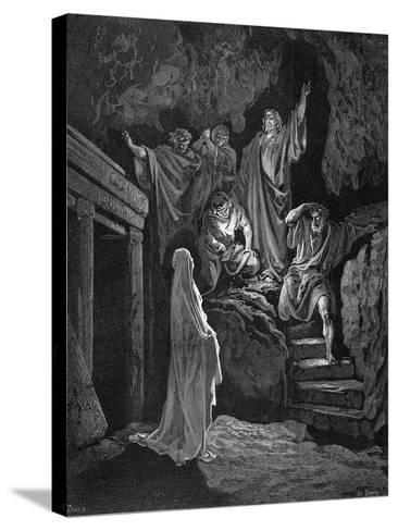 Jesus Raising Lazarus from His Tomb, 1865-1866-Gustave Dor?-Stretched Canvas Print