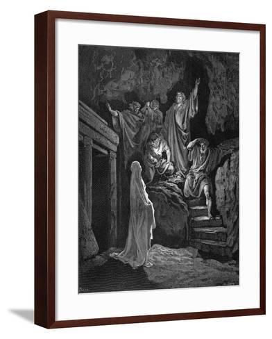 Jesus Raising Lazarus from His Tomb, 1865-1866-Gustave Dor?-Framed Art Print