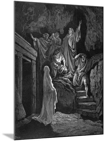 Jesus Raising Lazarus from His Tomb, 1865-1866-Gustave Dor?-Mounted Giclee Print