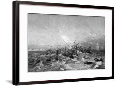 Walrus Hunting, 19th Century-Pearson-Framed Art Print