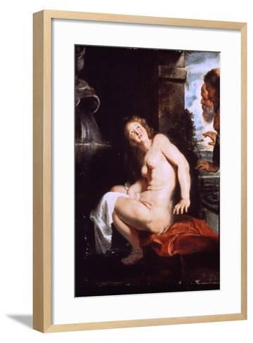 Susanna and the Elders, C1614-Peter Paul Rubens-Framed Art Print