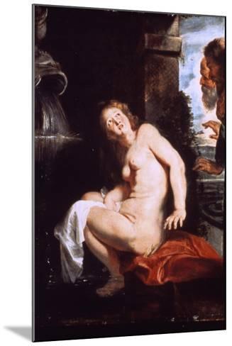 Susanna and the Elders, C1614-Peter Paul Rubens-Mounted Giclee Print