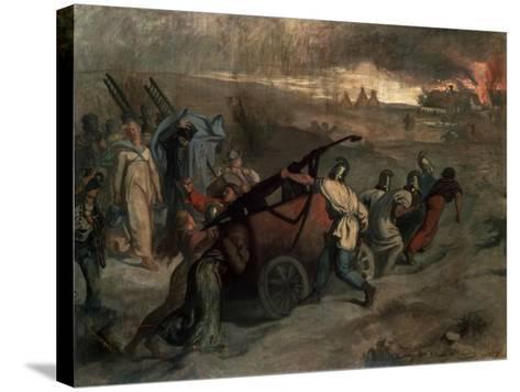 The Village Firemen, 1857-Pierre Puvis de Chavannes-Stretched Canvas Print
