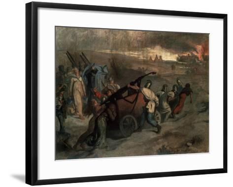 The Village Firemen, 1857-Pierre Puvis de Chavannes-Framed Art Print