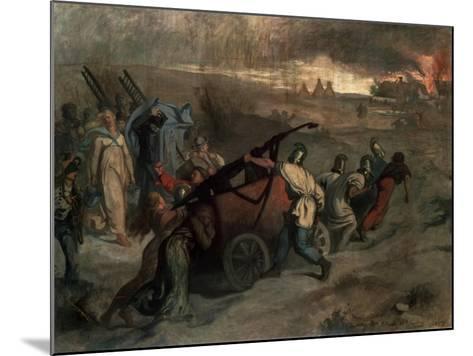 The Village Firemen, 1857-Pierre Puvis de Chavannes-Mounted Giclee Print