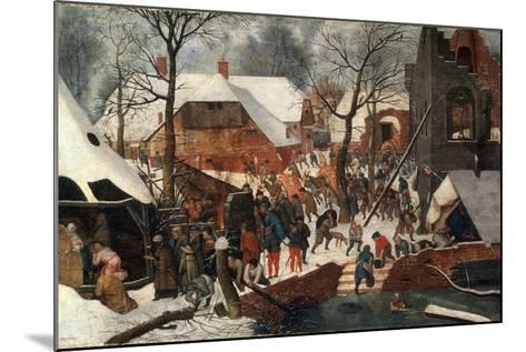 The Adoration of the Magi, Second Half of the 16th Century-Pieter Brueghel the Younger-Mounted Giclee Print