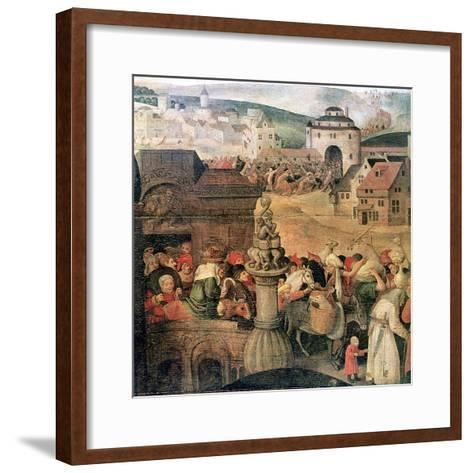 Christ Driving the Traders from the Temple' (Detail), C1584-1638-Pieter Brueghel the Younger-Framed Art Print
