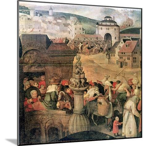Christ Driving the Traders from the Temple' (Detail), C1584-1638-Pieter Brueghel the Younger-Mounted Giclee Print