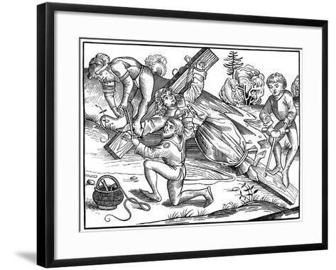 The Infant Richard of Pontoise Crucified by Jews, 1493-Pierre Wolgmuth-Framed Art Print