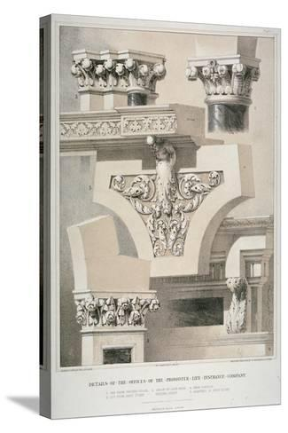 Architectural Details, Fleet Street, City of London, 1861-Robert Dudley-Stretched Canvas Print