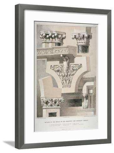 Architectural Details, Fleet Street, City of London, 1861-Robert Dudley-Framed Art Print