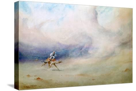 Storm in the Desert, 1901-Robert Talbot Kelly-Stretched Canvas Print