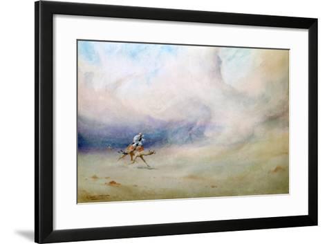 Storm in the Desert, 1901-Robert Talbot Kelly-Framed Art Print