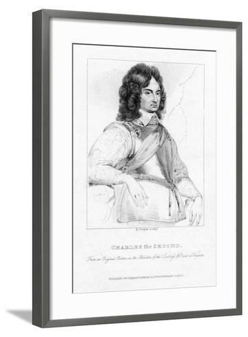 Charles II, King of England, Scotland and Ireland-R Cooper-Framed Art Print