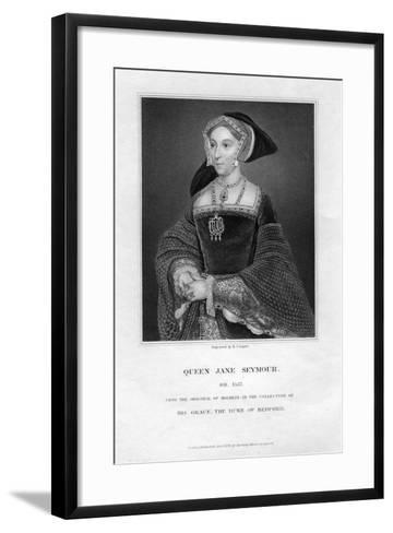 Jane Seymour, Third Wife and Queen of Henry VIII of England-R Cooper-Framed Art Print
