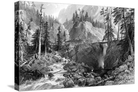Pont D'Espagne, Pryrenees, 19th Century-R Wallis-Stretched Canvas Print