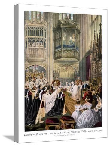 Princess Alexandra's and Prince Edward's Wedding, St Georges Chapel at Windsor-Robert Dudley-Stretched Canvas Print