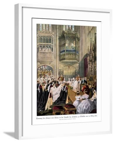 Princess Alexandra's and Prince Edward's Wedding, St Georges Chapel at Windsor-Robert Dudley-Framed Art Print