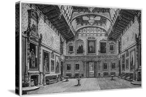 The Waterloo Chamber, Windsor Castle, 1880-Robert Taylor Pritchett-Stretched Canvas Print