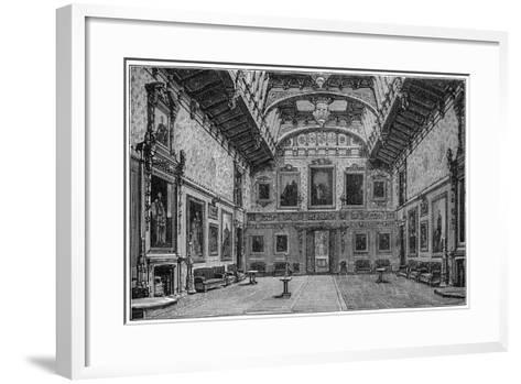 The Waterloo Chamber, Windsor Castle, 1880-Robert Taylor Pritchett-Framed Art Print