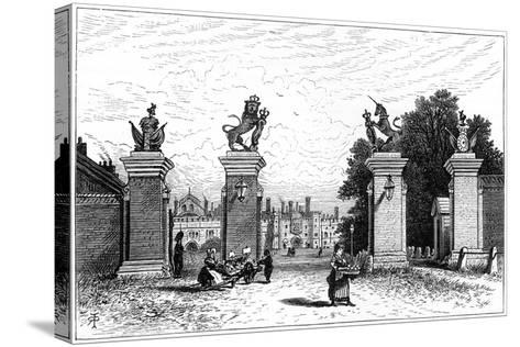 Entrance to Hampton Court Palace, 1880-Robert Taylor Pritchett-Stretched Canvas Print
