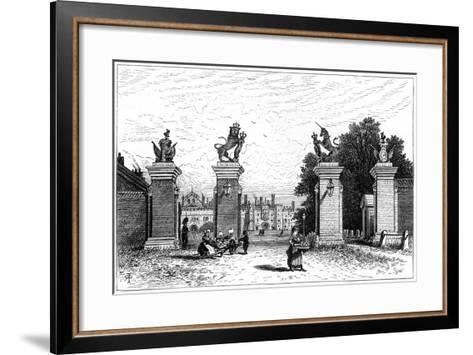 Entrance to Hampton Court Palace, 1880-Robert Taylor Pritchett-Framed Art Print